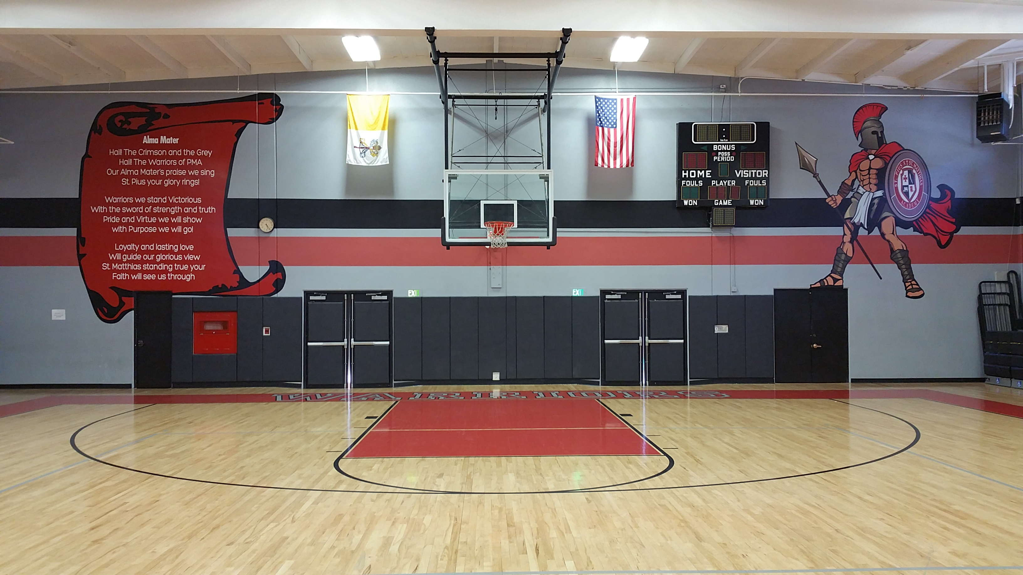 Recent Work Gym Mascot Graphics St Pius X Matthias
